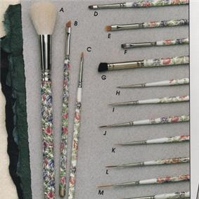 Dollmaking Brushes with Flowers