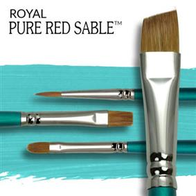 Royal Pure Red Sable Artist Brushes