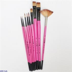 Pink Taklon Brushes