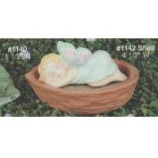 A1140A-Snoozing Faerie on Nut Shell 9cmW