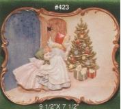 A423-Angel Girls Christmas Plate 25 x 19cm