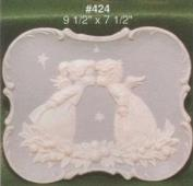 A424-Kissing Angels Plate 26 x 19cm