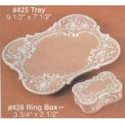 A425-Scroll Plaque or Tray 27 x 19cm