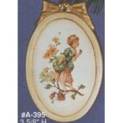 AA395-Oval Picture Frame with Bow 9cmH