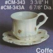 ACM343AB-Bavarian Coffee Cup & Saucer 8Hx18cmD