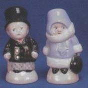 AHC8813-Winter Kid's Salt & Pepper Set with Stoppers 7.5cmH