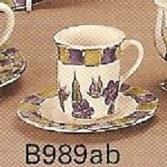 B989ST-Espresso Cup & Saucer