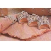 D1123- 4 Lace Applique Napkin Rings 8cm with cut outs