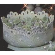 D1150-Lace Applique Bowl with cut outs 25cmW
