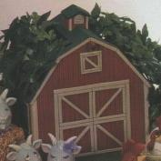 D1187B-Country Barn Basket with Cut Out Windows 25cm