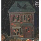 D1223B-Haunted House Background with Cut out Windows 33cm