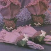D1397- 4 Lilac's & Butterflies Napkin Rings 6cmL