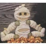 D1421-Button Jointed Mummy 18cm No Buttons
