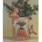 D1504-Carrot Seed Packet with Bunnies 14cm