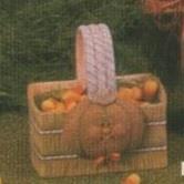 D1561-Straw Bale Basket 13cmL (excludes pumpkin)