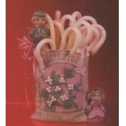 D1574-Mistletoe Seed Packet with Boy & Girl 15cmH