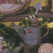D1611ST-Small Round Watering Can 9cmH with Hedgehog,Shovel & Ladybird