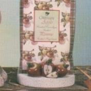 D1658 -Apples on D1634 Sachet Packet Stand 13cm Wide