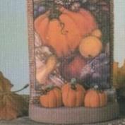 D1665 -Pumpkins on D1634 Sachet Packet Stand 13cm Wide