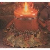 D1786-Autumn Leaves Jar Candy Dish 15cm