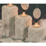 D1802ST -3 Winter Impressions Medium & Large Candleholders with Candle Cups 21 & 28cm