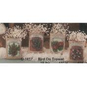 D1815- 4 Winter Seed Packet Ornaments 8cm