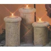 D1834ST- 3 Meadow Impressions Candleholders with Candle Cups 15,23 & 28cm
