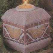 D1853-Mosaic Butterfly Candleholder & Candle Cup 15cm