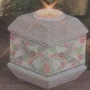 D1854-Mosaic Hummingbird Candleholder & Candle Cup 15cm