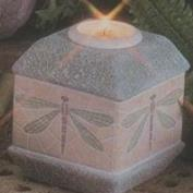 D1856-Mosaic Dragonfly Candleholder & Candle Cup 15cm