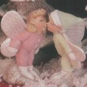 D1922ST-Kissing Boy & Girl Faeries 13cmH
