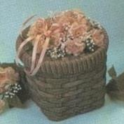D521-Wicker Basket Candy Dish with Lid 10cm