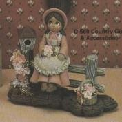 D560 -Country Girl with Birdhouse & Basket 18cm excludes base & fence