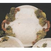DM1231-Pottery Platter with Vine Handles 32cmW