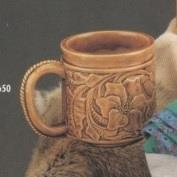 DM1650-Tooled Leather Mug 10cm