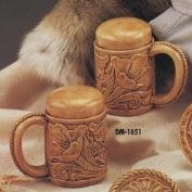 DM1651-Tooled Leather Salt & Pepper with stoppers 13cm