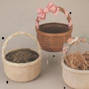 DM1775B-Round Basket with Plain Handle 24cmW