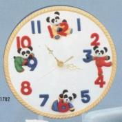 DM1782-Baby Bear Wall Clock 23.5cm