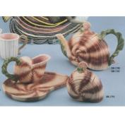 DM1787ST-Seashell Tea Pot,Milk & Sugar 22cm
