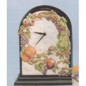 DM1806 -Fruit & Lattice Wall Clock 26cm Tall on DM1497 base