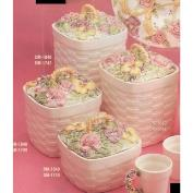 DM1840A-Roses & Pansies X Large Canister 17cmW 25cmH