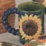DM1878-Oversized Sunflower Mug 13cmT