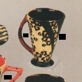 DM2168A-Geometrix Oval Handle Mug 13cmH