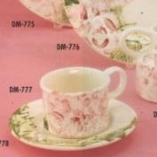 DM777-Designer Cup 10.8cm W & Saucer 15cm Wide