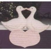 G1256-Welcome Friends Duck Plaque 18cmW