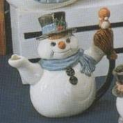 G2704-Snowman Teapot with Bird 18cmH