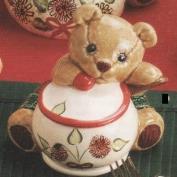 G2764-Teddy Bear Sugar Bowl 10cmH
