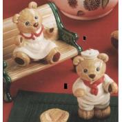 G2765-Teddy Bear Salt & Pepper with stoppers 10cmH