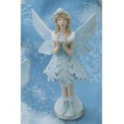 G3346-Snow Flurries Fairy Holding Snowflake in Front 15cm