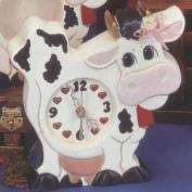 K1394-Cow Clock 24cm